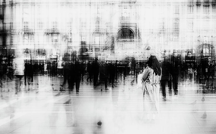Street Photograph - Lost Among Ghosts by Inna Blar