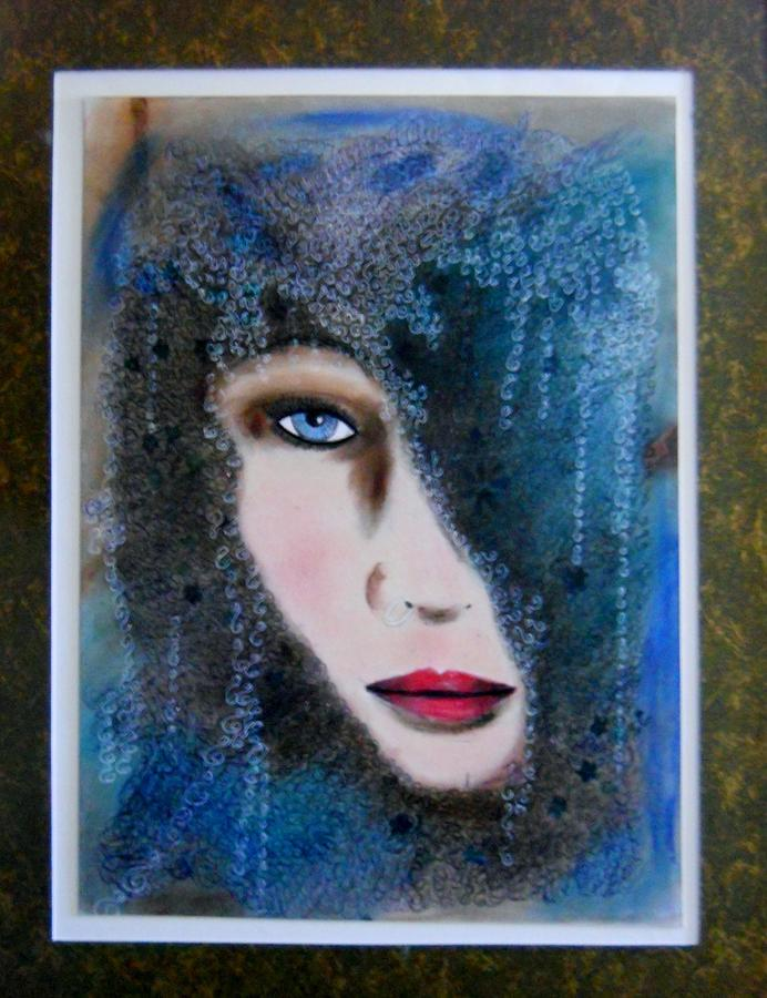 Face Painting Painting - Lost Bingo by Suzanne Thomas