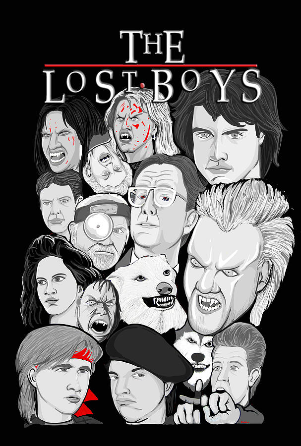 Lost Painting - Lost Boys Collage by Gary Niles