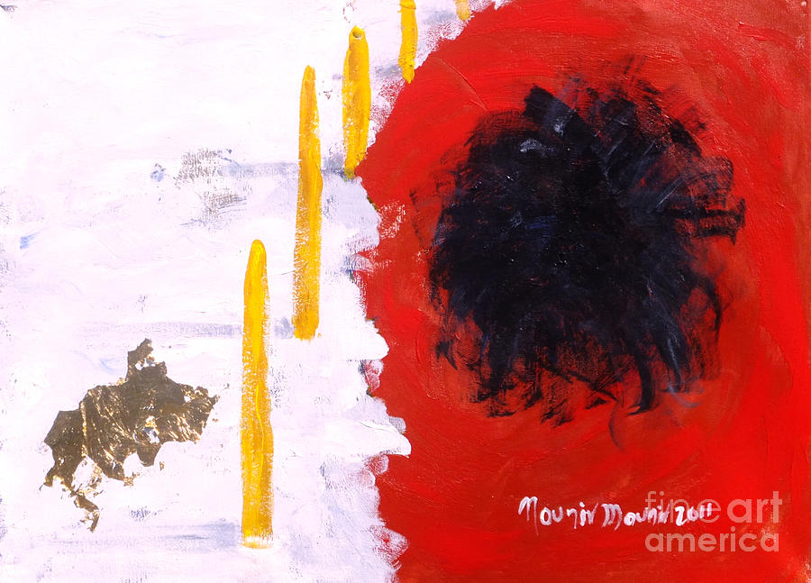 Abstract Painting Painting - Lost Civilization by Mounir Mounir