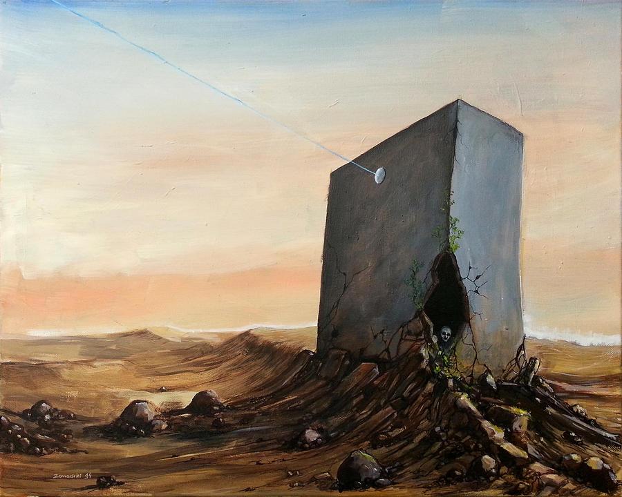 Landscape Painting - Lost Connection by Mariusz Zawadzki