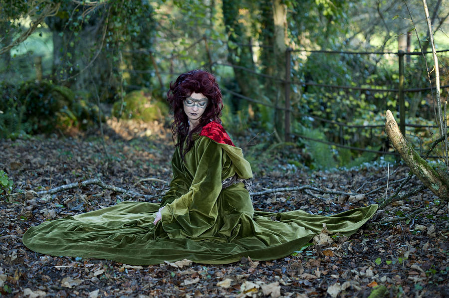 Fairy Photograph - Lost Daughter Of Goddess Demether by Sylwia Klimczak