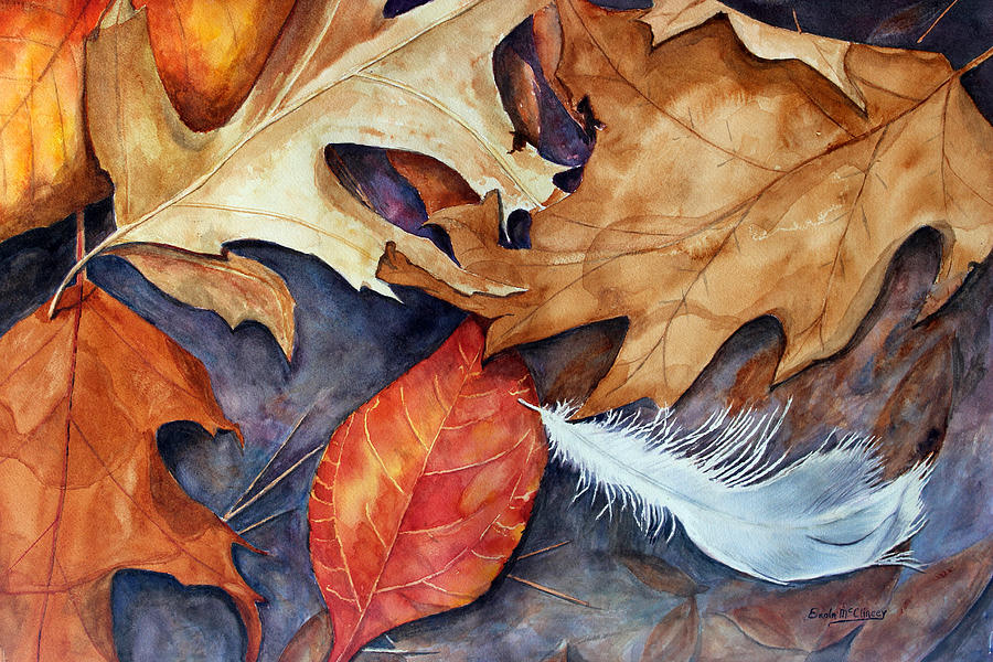 Watercolor Paintings Painting - Lost Feather by Enola McClincey