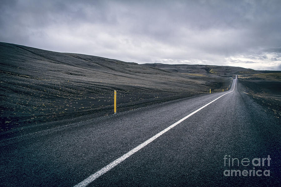 Landmannalaugar Photograph - Lost Highway by Evelina Kremsdorf