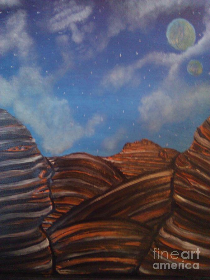Landscape Painting - Lost In A Strange World by Rick  Gazdik