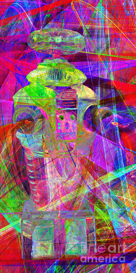 Robot Photograph - Lost In Abstract Space 20130611 Long Version by Wingsdomain Art and Photography