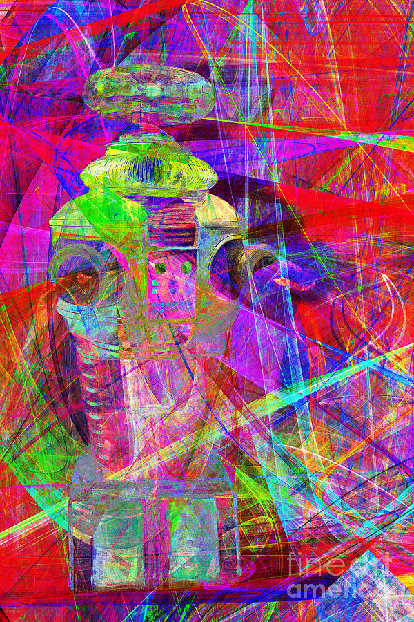 Robot Photograph - Lost In Abstract Space 20130611 by Wingsdomain Art and Photography