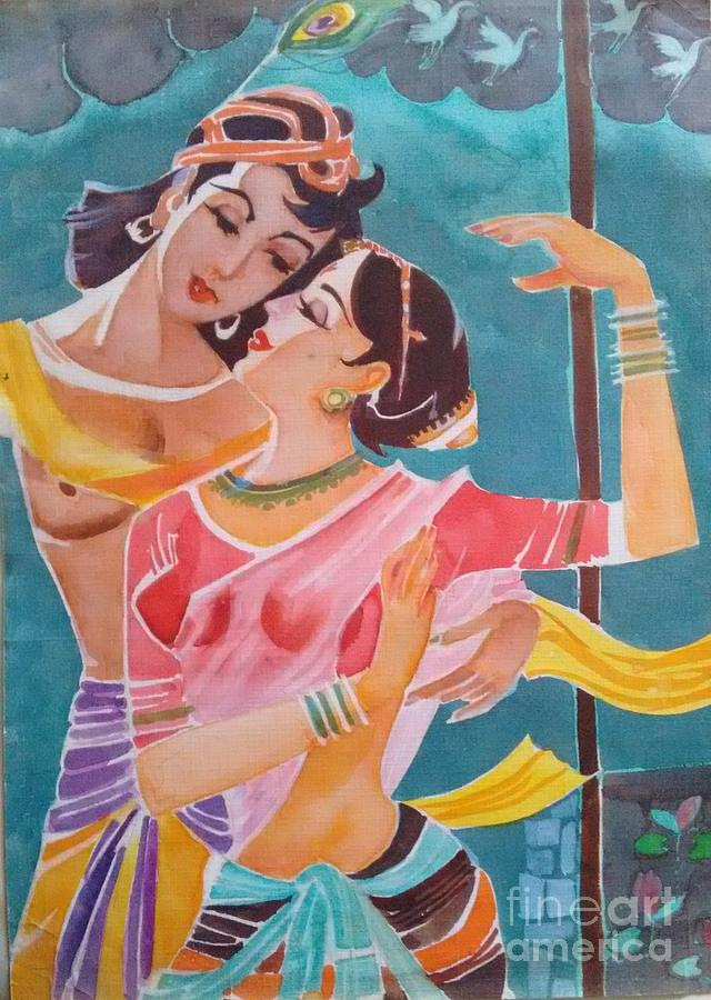 Romance Painting - Lost In Love by Chintaman Rudra