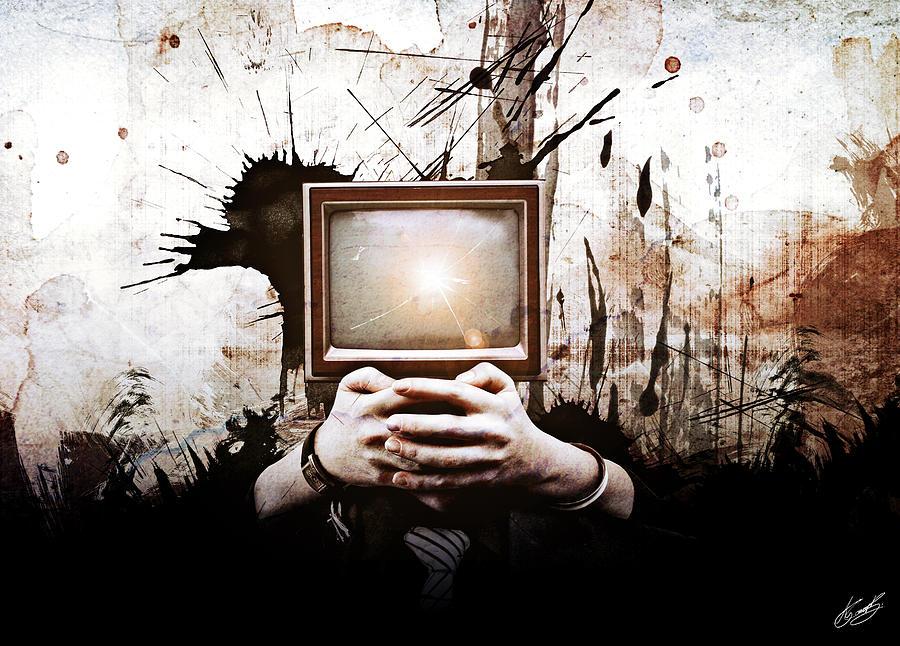 Beautiful Digital Art - Lost In The Media by Aj Collyer