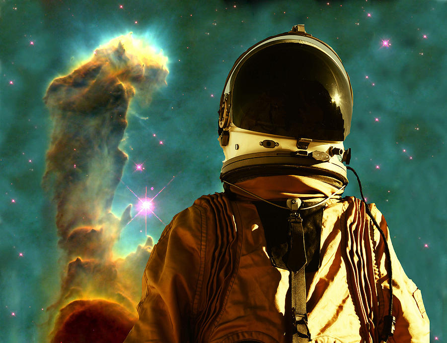 Astronaut Digital Art - Lost In The Star Maker by Matthew Lacey