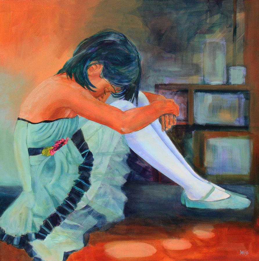 Dancer Painting - Lost In Thought by Sue  Darius
