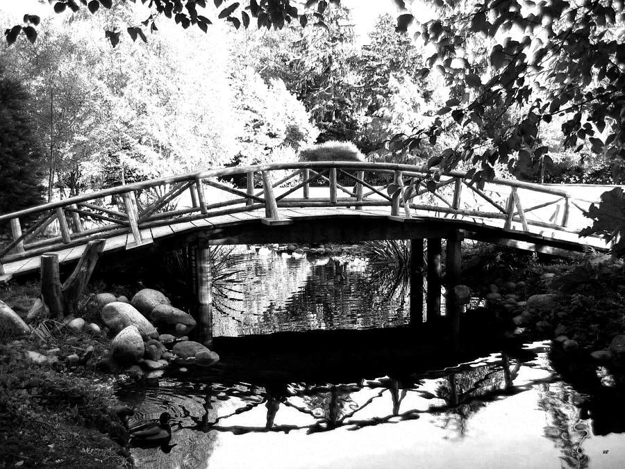 Wooden Bridge Photograph - Lost Lagoon Bridge  by Will Borden
