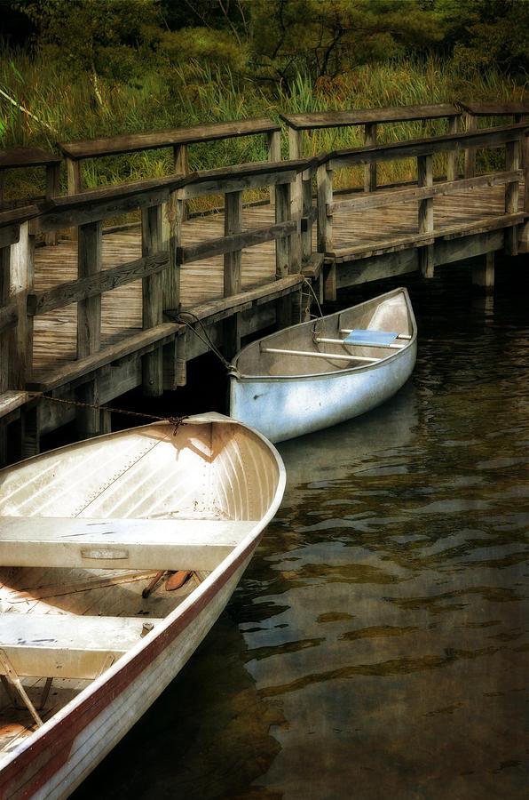 Canoe Photograph - Lost Lake Boardwalk by Michelle Calkins