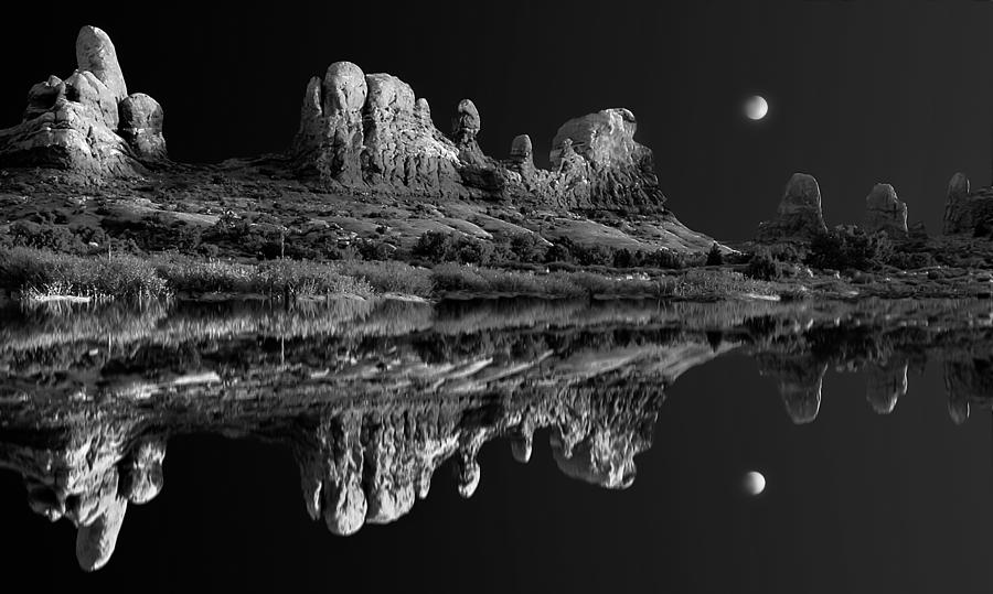 Lakes Photograph - Lost Lake Of The Arches by Mike  Bennett