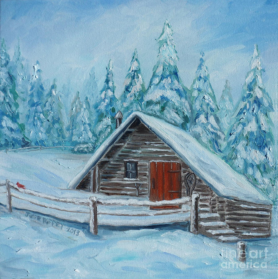 Lost Mountain Cabin Painting By Julie Brugh Riffey