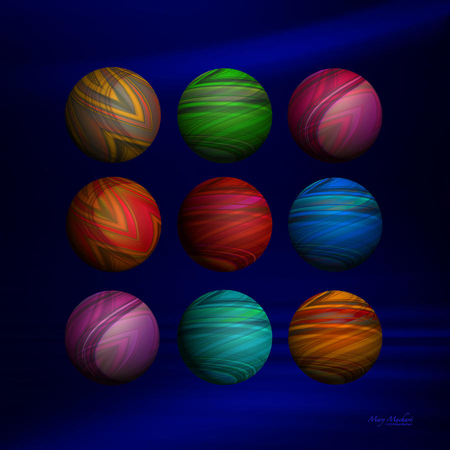Lost My Marbles Digital Art - Lost My Marbles by Mary Machare