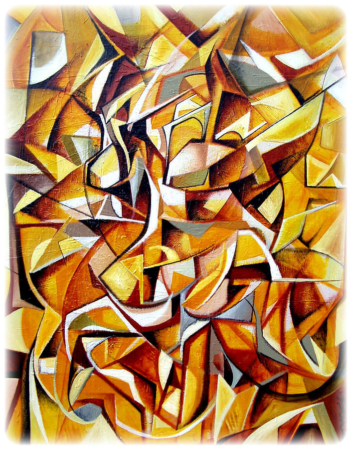 Cubism Painting - Lost On The Yellow Brick Road by Dawson Taylor