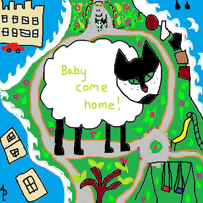 Lost Sheep Painting - Lost Sheep by Anita Dale Livaditis