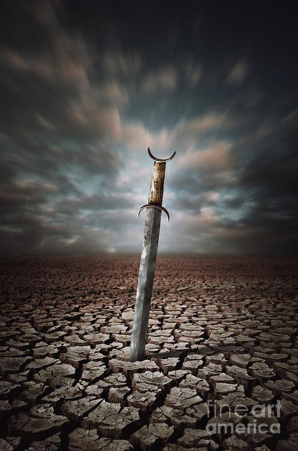 Drought Photograph - Lost Sword by Carlos Caetano