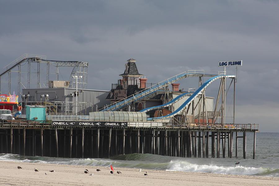 Casino Pier Photograph - Lost To Sandy by Laura Wroblewski