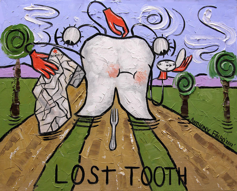Lost Tooth Painting - Lost Tooth by Anthony Falbo