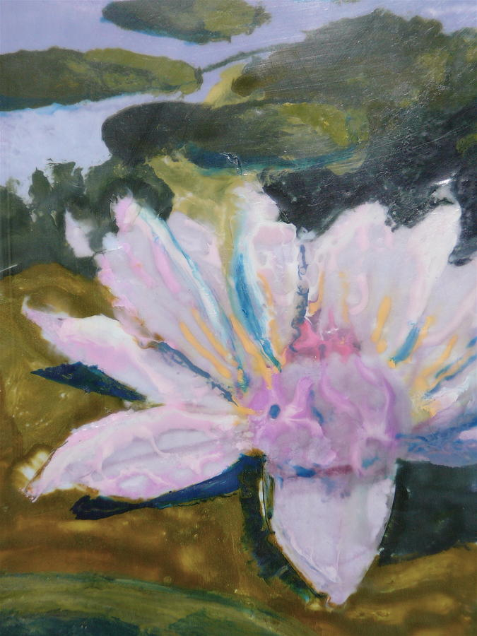 Lotus Flower Painting - Lotus Be by Valerie Lynch
