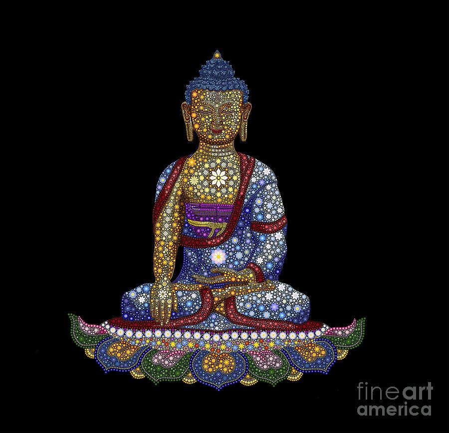 Buddha Digital Art - Lotus Buddha by Tim Gainey