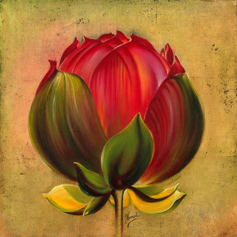 Lotus Painting - Lotus Bulb by Anna Ewa Miarczynska