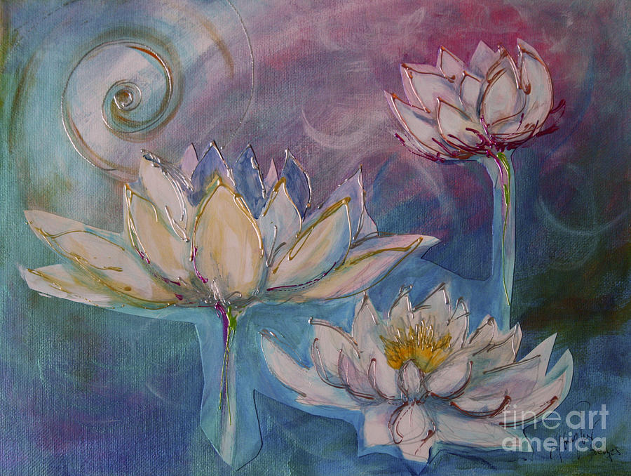 Lotus Flower 4 by Sandra Taylor-Hedges