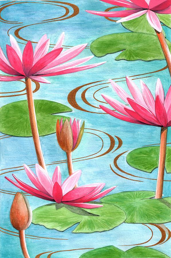 Flowers Painting - Lotus Flower by Jenny Barnard