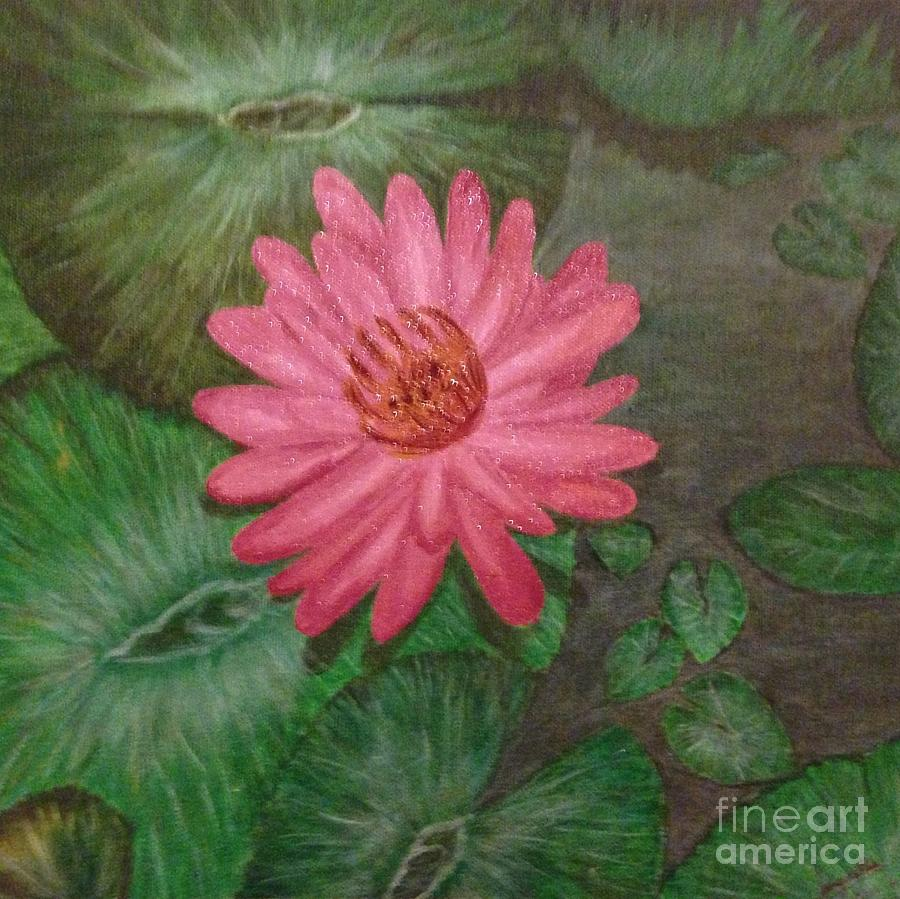 Flower Painting - Water Lilly by S P