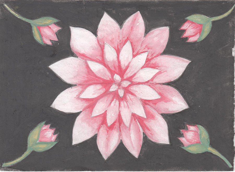 Lotus Flowers Drawing By Martin Kwame Lissah