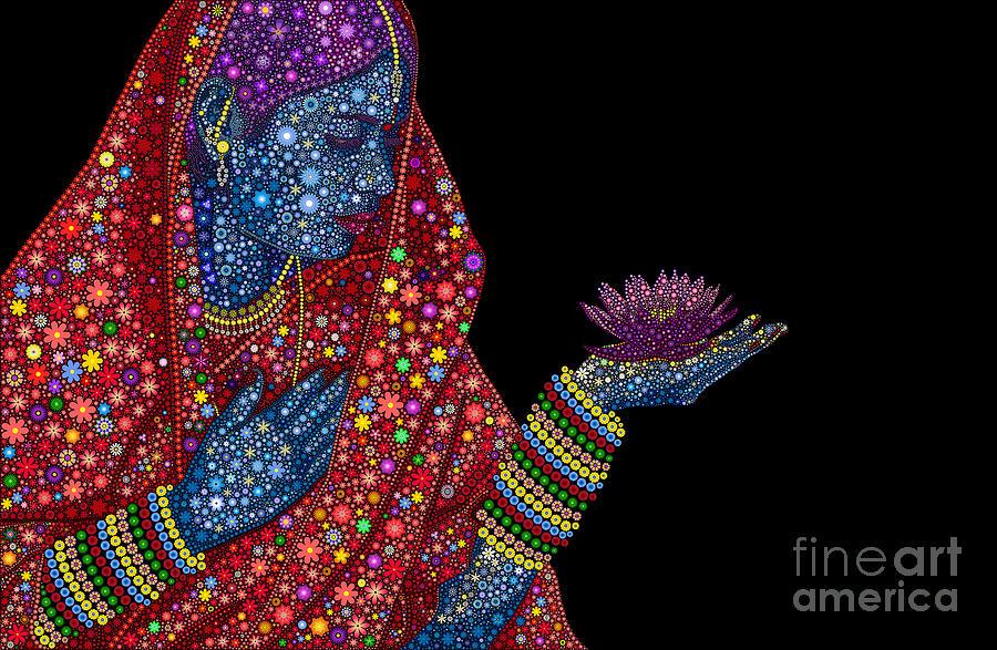 Flower Digital Art - Lotus Girl by Tim Gainey