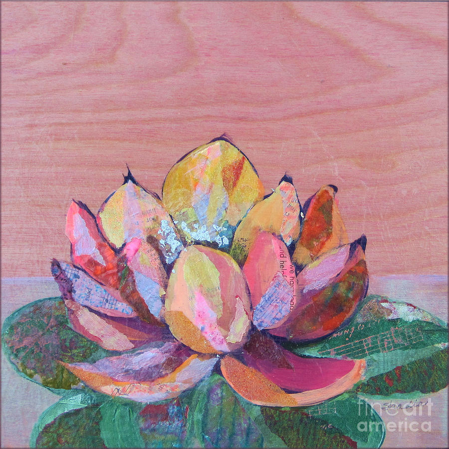 Pink Flower Painting - Lotus I by Shadia Derbyshire