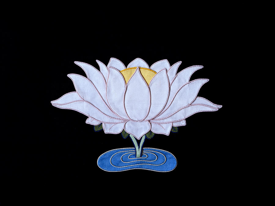 Lotusflower Tapestry - Textile - Lotus by Leslie Rinchen-Wongmo