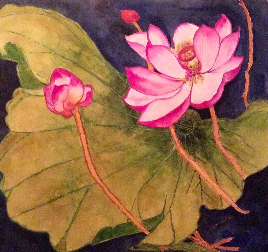 Lotus Lyric Painting By Krysia Gallien