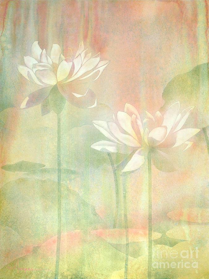 Watercolor Painting - Lotus by Robert Hooper