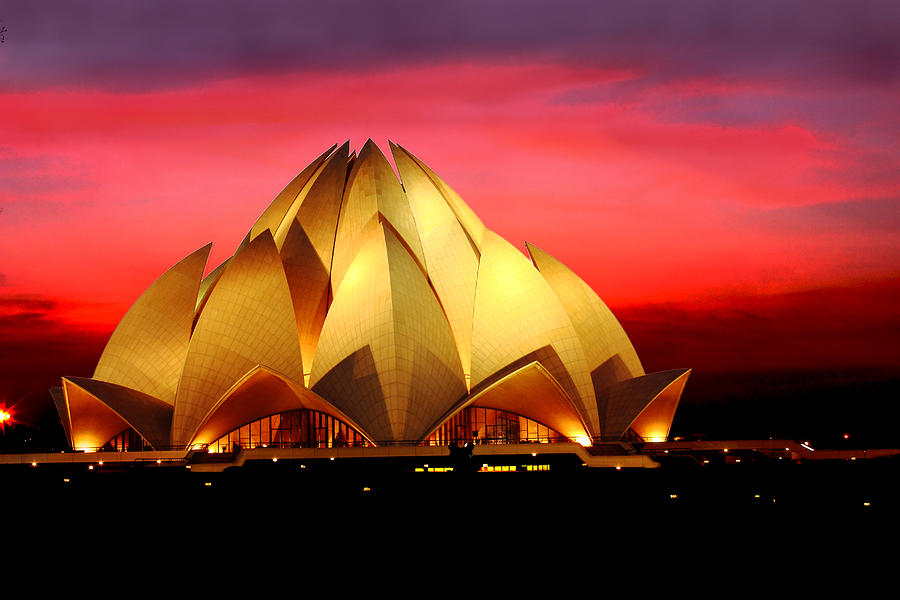 Lotus Temple in New Delhi, India Photograph by Naveen0301