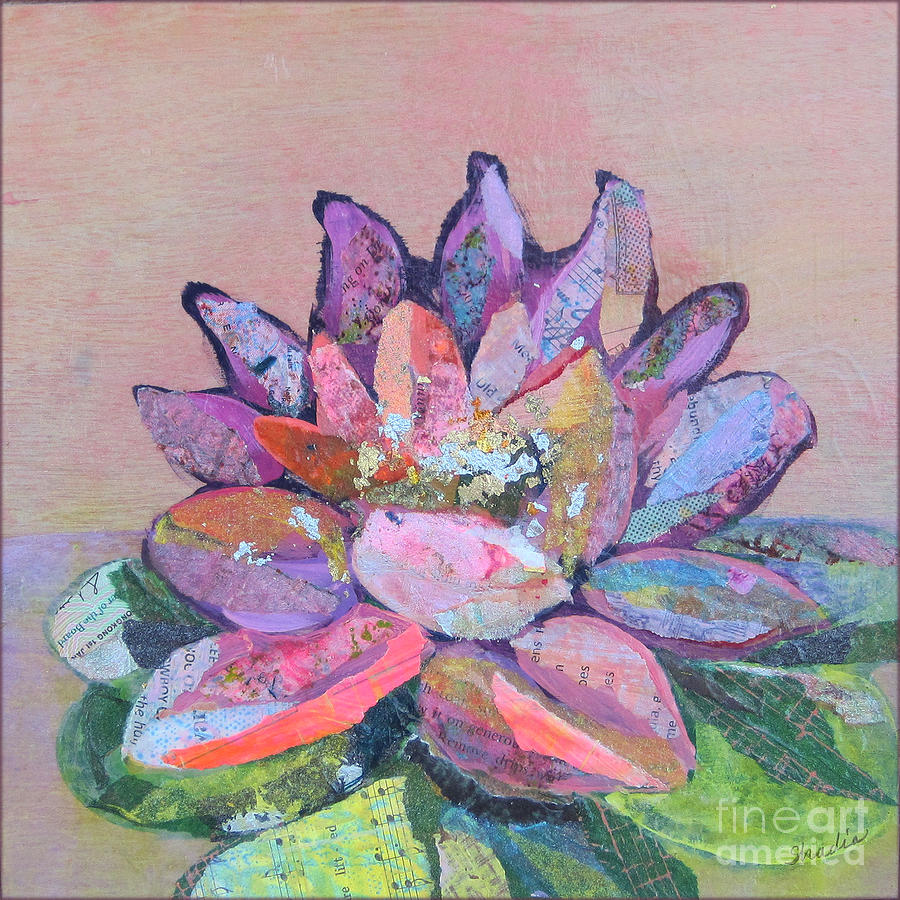 Pink Flower Painting - Lotus V by Shadia Derbyshire