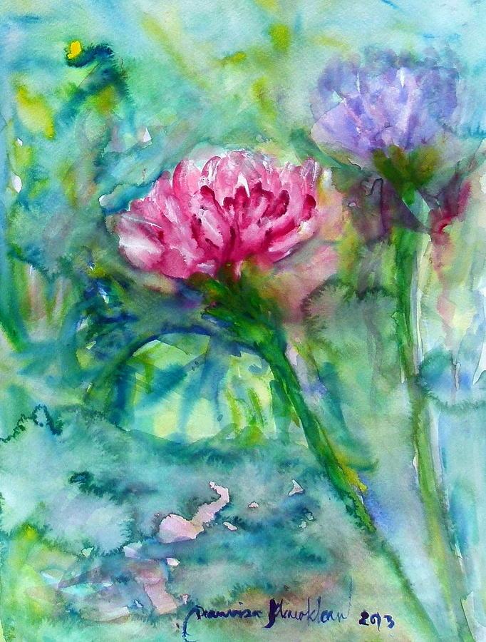 Floral Painting - Lotus by Wanvisa Klawklean