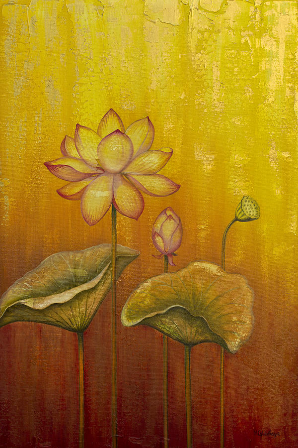 Lotus Painting - Lotus by Yuliya Glavnaya