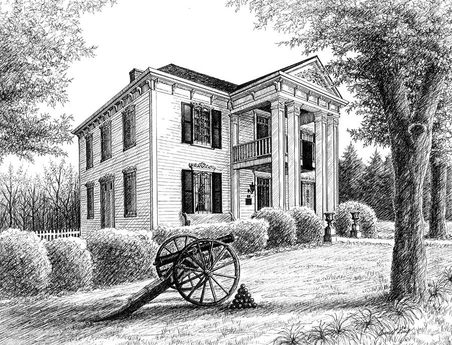 Franklin Drawing - Lotz House by Janet King