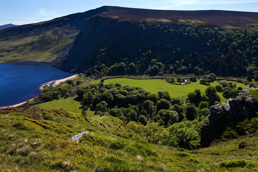 Color Image Photograph - Lough Tay Below Luggala Mountain by Panoramic Images