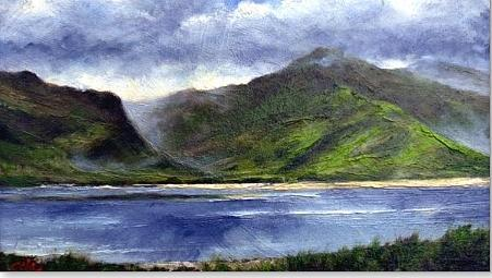 Irish Painting - Loughros Bay Ireland by Jim Gola