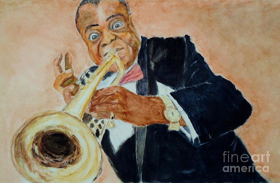 Louis Armstrong Painting - Louis Armstrong 1 by Katie Spicuzza