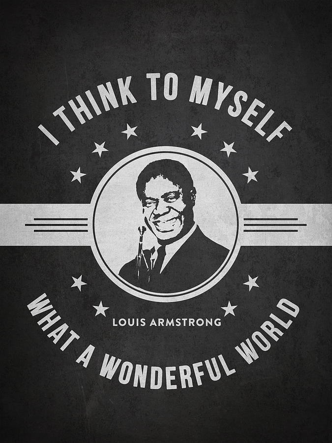 Louis Armstrong Digital Art - Louis Armstrong - Dark by Aged Pixel