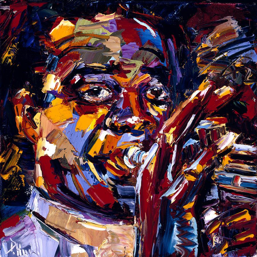 Louis Armstrong Painting by Debra Hurd