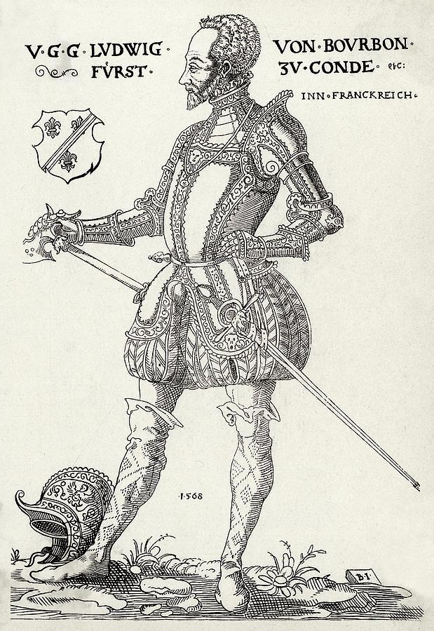 Louis Drawing - Louis I De Bourbon 1st Prince De Conde by Mary Evans Picture Library
