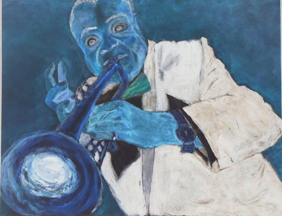 Louis Armstrong Photograph - Louis In Blue by Katie Spicuzza