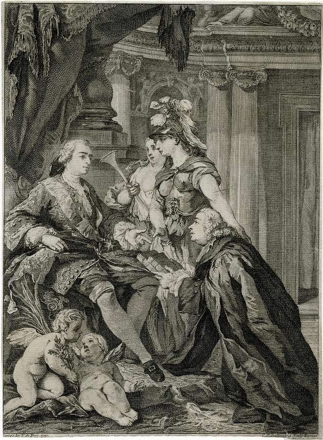 Louis Drawing - Louis Xv             Accepts by Mary Evans Picture Library
